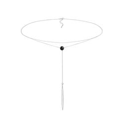 ELLI Damen Halskette Choker, Kristall Kette, Y-Kette silber, Größe One Size, 4522141