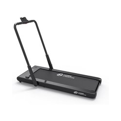 2 in 1 Folding Treadmill, 2.0HP Smart Walking Running Machine with Bluetooth Audio Speakers for Home Office Cardio Fitness