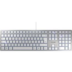 CHERRY KC6000 Slim USB Tastatur Französisch, AZERTY Silber