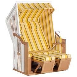 SunnySmart Strandkorb Rustikal 50 Plus weiß Strandkörbe Garten, Terrasse Balkon