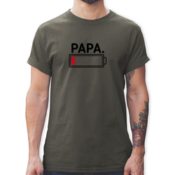 Shirtracer T-Shirt Papa leere Batterie - Partner-Look Familie Papa - Herren Premium T-Shirt - T-Shirts t-shirt papa leere batterie S