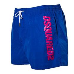 Dsquared2 Badeshorts Herren Badehose - Boxer Midi, Badeshort, Logo, blau XL