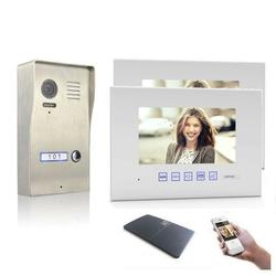 Video Türsprechanlage mit 7 Zoll Monitor Aufputz 2x 7 Zoll Monitor Ja