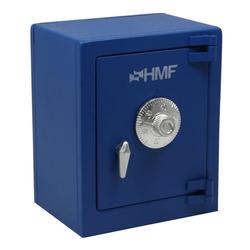 HMF Spardose 306, Minitresor mit Zahlenschloss, 13,5 x 11 x 8 blau 11 cm x 13.5 cm x 8.00 cm