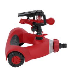 KREATOR Sprinkleranlage Sprinkler 0 - 360° Impuls Rasensprenger Sprühregner 22m - Sprinkleranlage Pulse