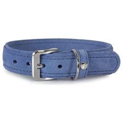 Das Lederband Hundehalsband Toronto Jeans, Länge: 35 cm
