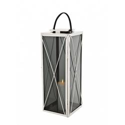 Casa Padrino Designer Deco Laterne Nickel Finish 30 x 30 x H. 83 cm - Luxus Hotel Restaurant Laterne