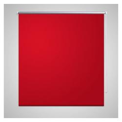 Jalousie Verdunkelungsrollo 80 x 230 cm rot, vidaXL