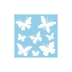 Rayher Dekor-Schablone Schmetterlinge grau