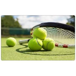 DesFoli Wandtattoo Tennis Tennisball Tennisplatz R0613 bunt 60 cm x 38 cm