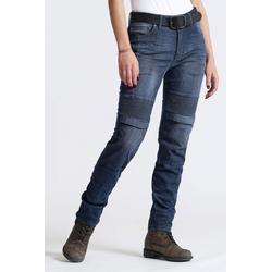 Pando Moto Rosie Navy Plain, jeans mujeres - Azul Oscuro - W30/L32