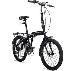 bergsteiger Faltrad Windsor, 6 Gang Shimano Kettenschaltung schwarz Herren Falträder Klappräder Fahrräder Zubehör Fahrrad