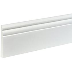 BODENMEISTER : Sockelleiste Biegeleiste Hamburger Profil weiß, flexibel, biegbar, Höhe: 9 cm weiß
