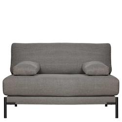 Sofa in Grau Webstoff 60 cm Sitztiefe
