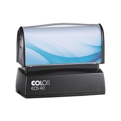 Selbstfärbender Textstempel »EOS 40« ohne Logo blau, Colop, 7.8x6x4.5 cm