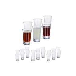 relaxdays Schnapsglas 24 x Schnapsgläser 4cl, Glas