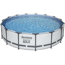 BESTWAY Steel Pro Max Frame Pool Set 457 x 107 cm inkl. Filterpumpe