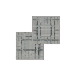 Nachtmann Square Geschirr Platte 21 cm smoke quadratisch 2er Set