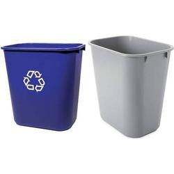 Rubbermaid Papierkorb, 12,9 Liter, rechteckig, PE, blau (71240015)