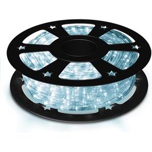 COSTWAY LED-Lichterschlauch Lichterschlauch mit LEDs weiß 20 m