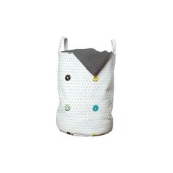 Abakuhaus Wäschesack Wäschekorb mit Griffen Kordelzugverschluss für Waschsalons, Krapfen Tupfen Zuckerglasur Gebäck
