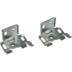 Sichtschutzbefestigung Träger Metall, GARDINIA, Jalousien, (2-tlg), Serie Aluminium-Jalousie 25 mm