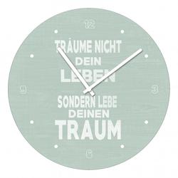 Wanduhr LEBEN & TRAUM(D 20 cm) Pro-Art