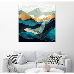 Posterlounge Wandbild, Blauwal 50 cm x 50 cm