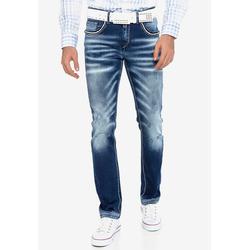Cipo & Baxx Bequeme Jeans mit passendem Gürtel 36