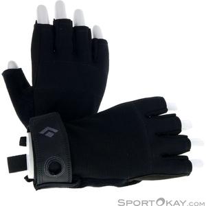 Black Diamond Crag Half Finger Herren Halbfinger Handschuhe-Schwarz-XS