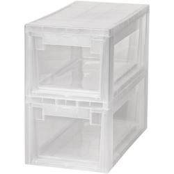 KREHER Aufbewahrungsbox 2x 7 Liter, mit Schubladen 2er Set weiß
