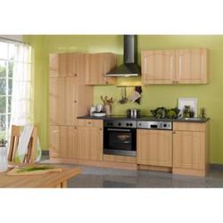 HELD Möbel Küchenzeile Rom 280 cm Buche Nachbildung - ohne E-Geräte