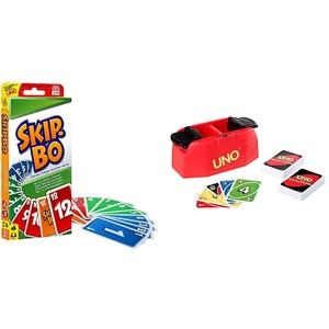 Mattel Games 52370 Skip-BO Kartenspiel und Familienspiel geeignet für 2 - 6 Spieler, Spiel ab 7 Jahren + GKC04 UNO Showdown Familienspiel für 2 bis 10 Spieler ab 7 Jahren