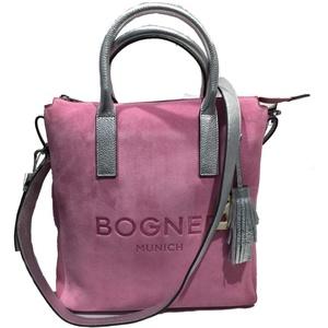 Bogner Lofer Emmi Handtasche Damen Tasche aus Wildleder, lvz, 6x35x37 cm