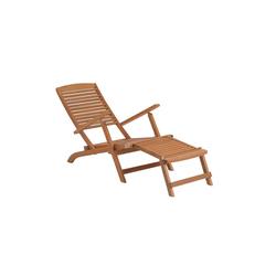 BUTLERS Gartenliege WEEKENDER Liegestuhl mit Fußteil