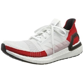 adidas Ultraboost 19 white-red/ white, 43.5