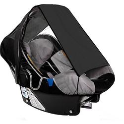 Sonnensegel Babyschale UPF 50+ Schutz, schwarz  Kinder