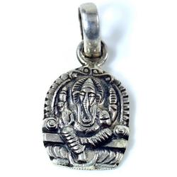 Guru-Shop Kettenanhänger Silber Anhänger Ganesha Talisman -7