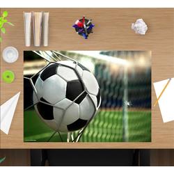 cover-your-desk.de Schreibtischaufsatz Schreibtischunterlage für Kinder - Fußball im Tor - 60 x 40 cm – aus hochwertigem Vinyl, (1-St)