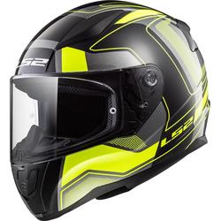 LS2 FF353 Rapid Carerra Helm, schwarz-gelb, Größe L