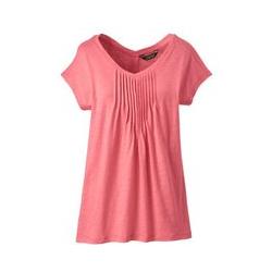 Langes Shirt mit Biesen - XS - Rote Rose