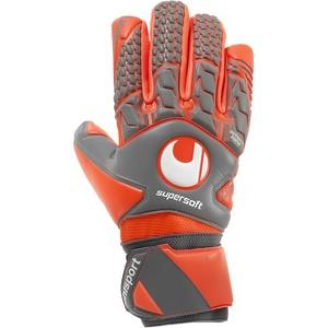 uhlsport Unisex Aerored Supersoft Hn Torwart-handschuhe, dark grau melange/fluo rot, 10