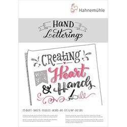 Hahnemühle Aquarellpapier Hand-Letteringblock A4, 25 Blatt, A4, 170g/m²