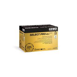 Gewo Tischtennisball GEWO Ball Select Pro 40+ *** 72er