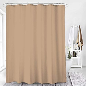 Duschvorhang Textil Badewannenvorhang 120/180 / 240 x 200 cm inkl Ringe (120x200cm, Graubeige)