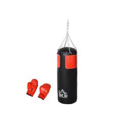HOMCOM Standboxsack Boxsack mit Boxhandschuhen
