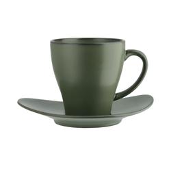 ASA SELECTION Tasse mit Unterteller  Cuba Verde ¦ grün ¦ Steinzeug
