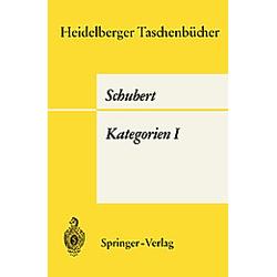 Kategorien I. H. Schubert  - Buch