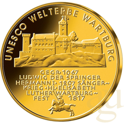1/2 Unze Goldmünze - 100 Euro Wartburg 2011 (J)