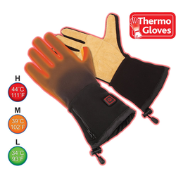 Thermo Lederhandschuhe Thermo Work Gloves beheizbare Arbeits-Handschuhe XS-S